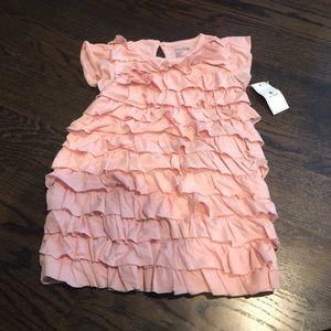 Baby Gap ruffle dress pink 6-12 MOS NWT